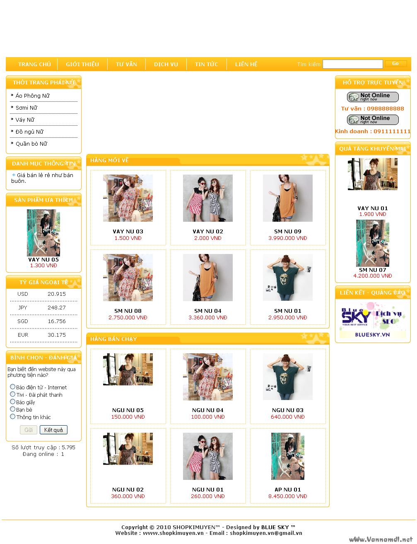 code shop thời trang nữ