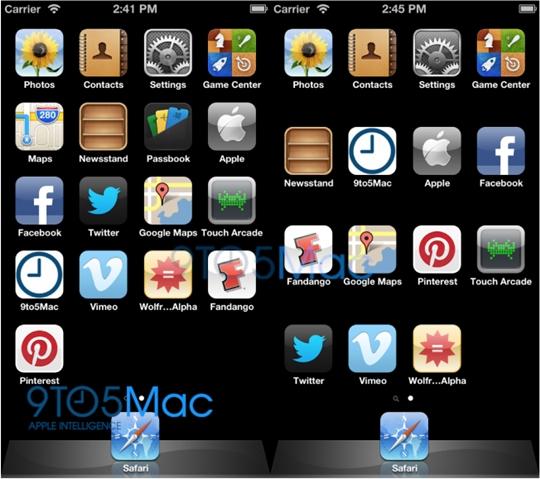 hình ảnh iphone 5 và iphone 4