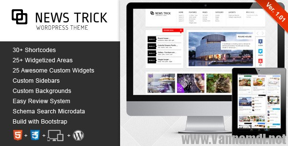 NewsTrick Responsive WordPress Magazine download free