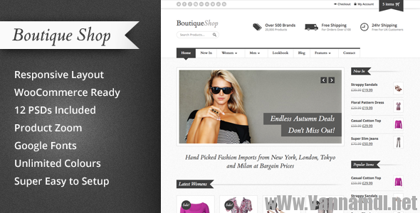 Boutique Shop v1.4.3 them shop wordpress