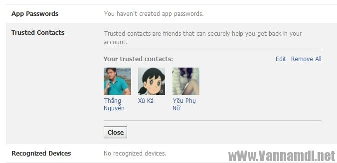 cach lay tai khoan facebook bang trusted contact 5
